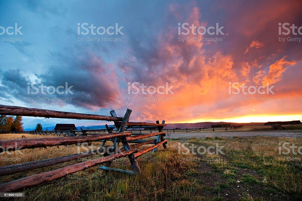 Gorgeous Sunset in Idaho stock photo