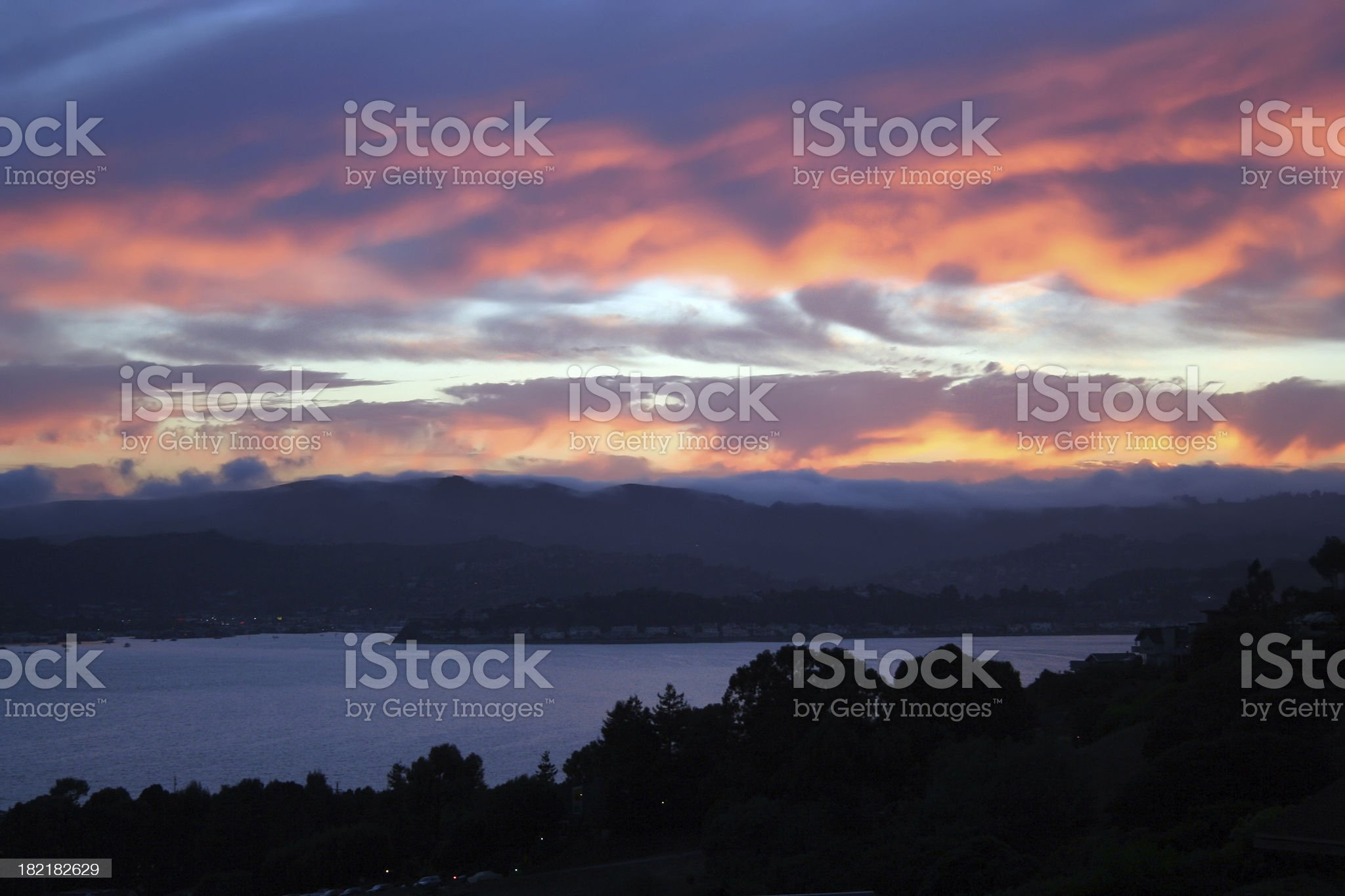 Gorgeous Sunset in Marin County California royalty-free stock photo