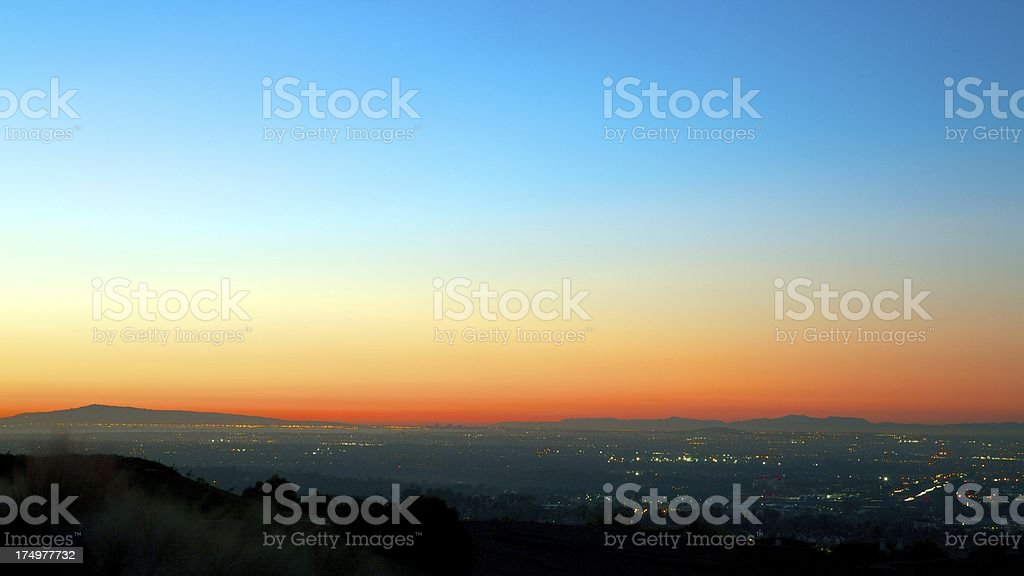 Gorgeous Sunset in Orange County royalty-free stock photo