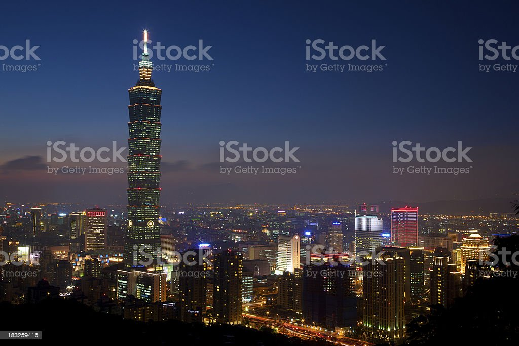Gorgeous Taipei City at Night royalty-free stock photo