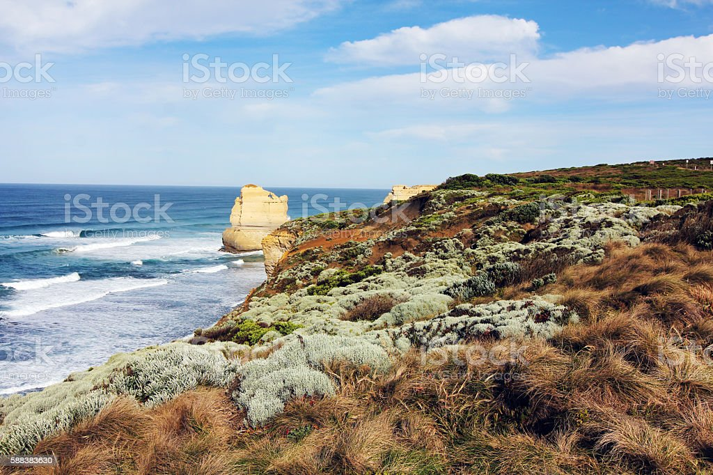 gorgeous view at great ocean road stock photo