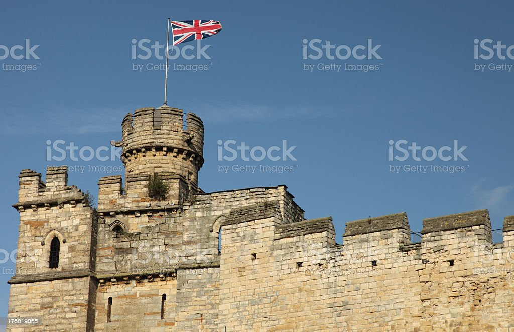A gorgeous view of a British castle stock photo