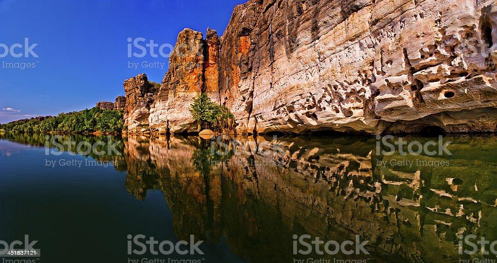 Gorgeous view of Fitzroy River and Geikie Gorge stock photo