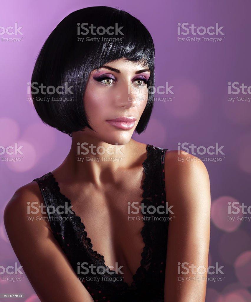 Gorgeous woman fashion portrait stock photo
