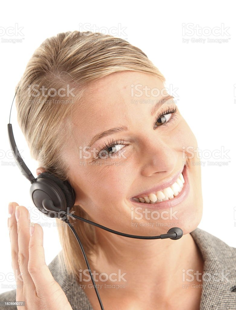 gorgeous woman with super customer service! royalty-free stock photo