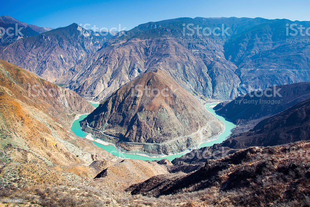 Gorgeous Yangtze River stock photo