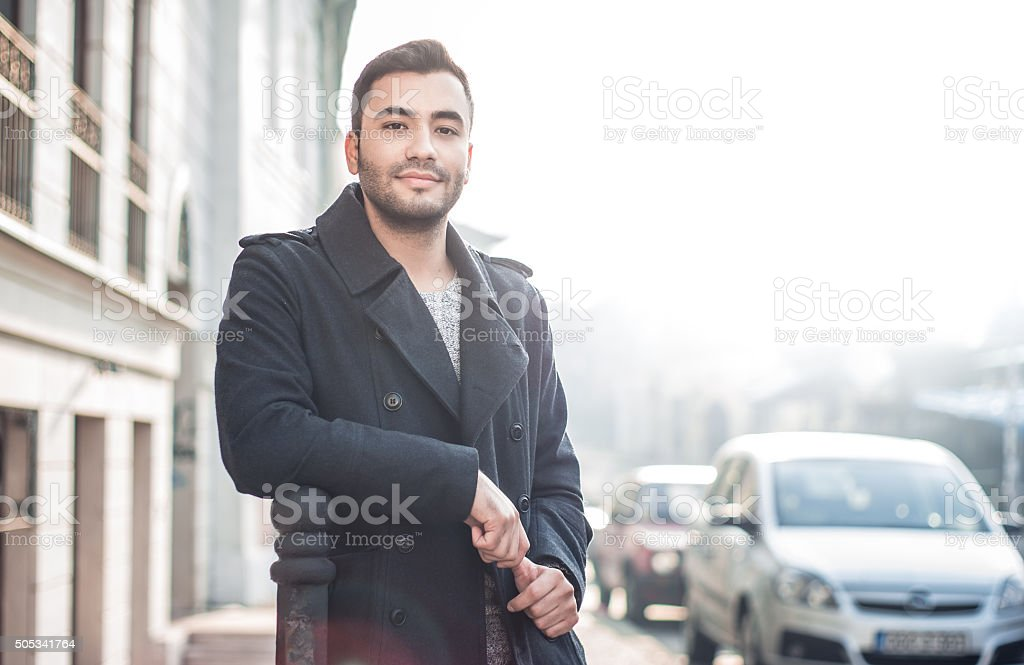 Gorgeous young man stock photo