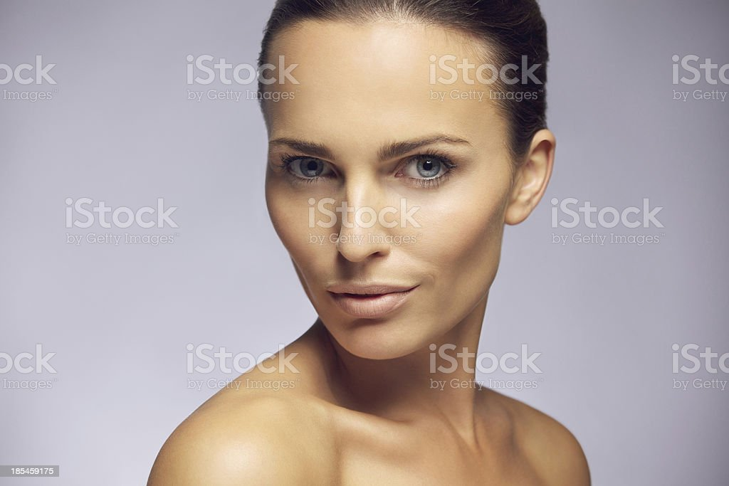 Gorgeous young model with perfect complexion royalty-free stock photo
