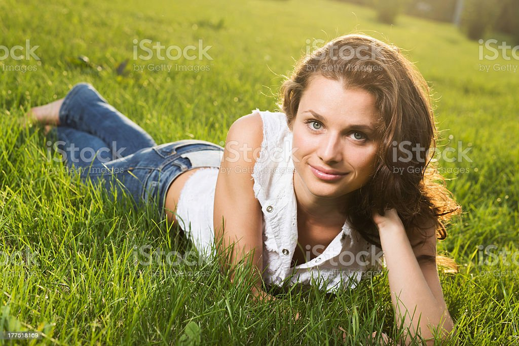 Gorgeous young pretty woman stock photo