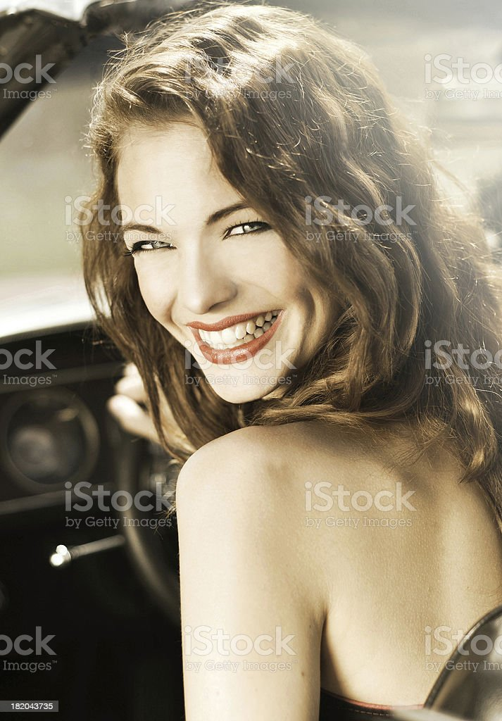 gorgeous young woman stock photo