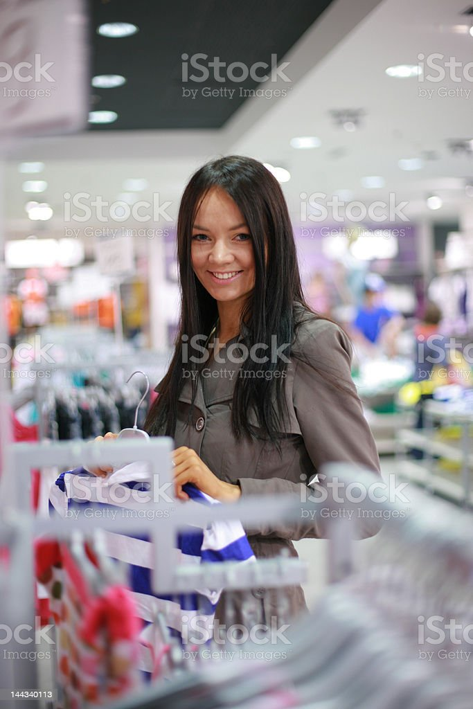 Gorgeous young woman shopping royalty-free stock photo
