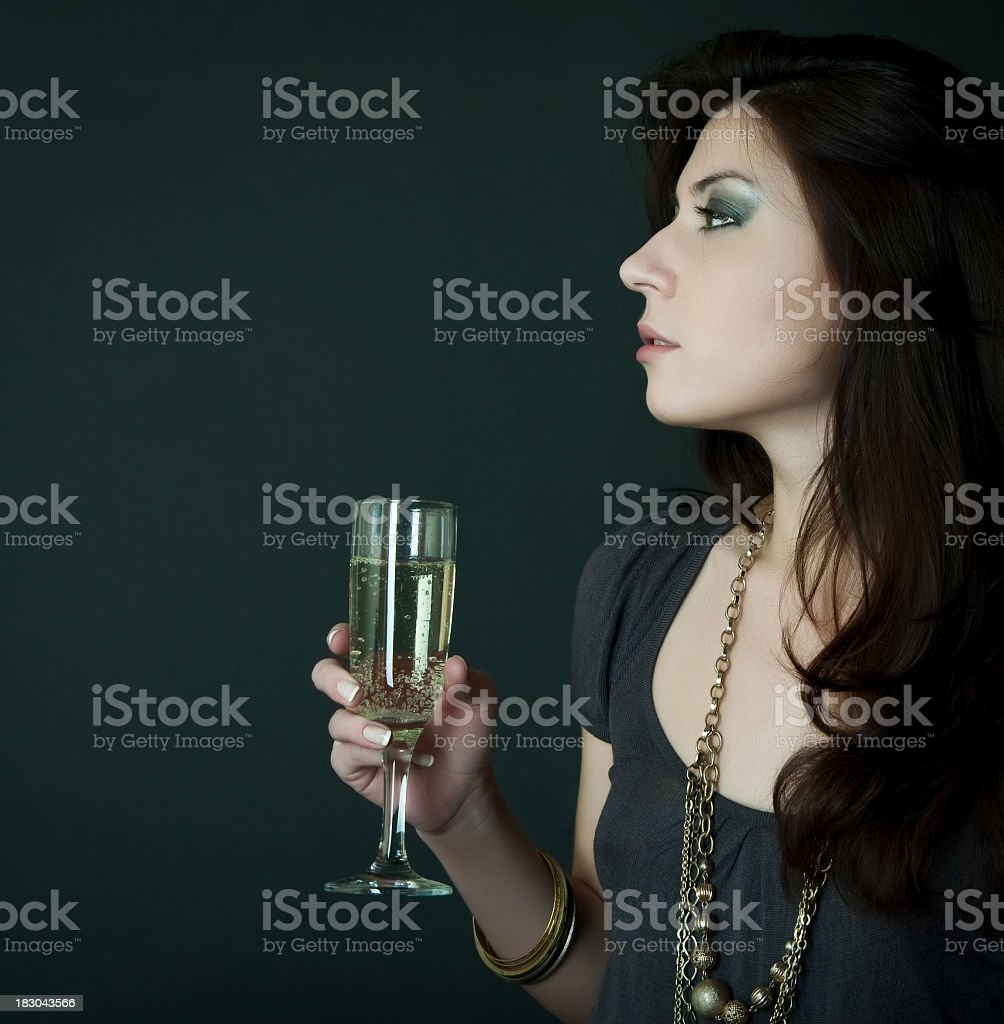 Gorgeous young woman with cocktail royalty-free stock photo