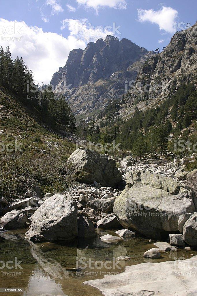 Gorges de la Restonica stock photo