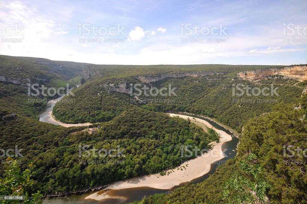Gorges de l'Ardèche stock photo