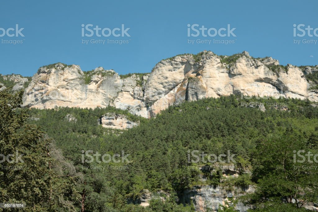 Gorges du Tarn or Tarn canyon, France stock photo