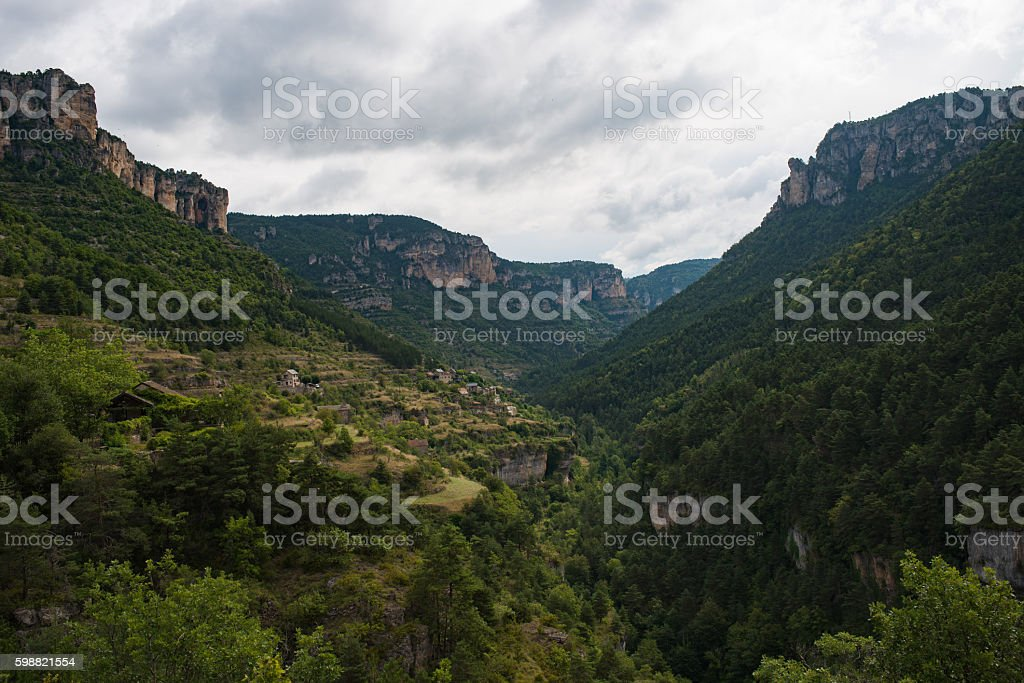 Gorges du tarn stock photo