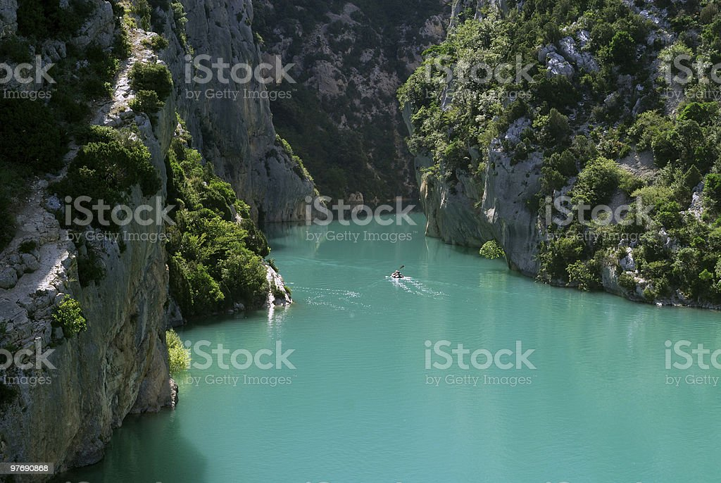 Gorges du Verdon, the canyon at summer royalty-free stock photo