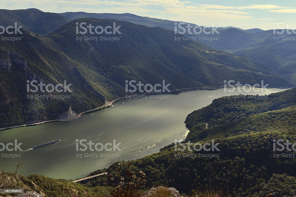 Gorges of the Danube stock photo