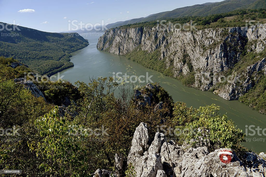Gorges of the Danube. royalty-free stock photo
