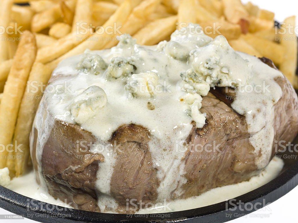 gorgonzola cream sauce beef Filet royalty-free stock photo