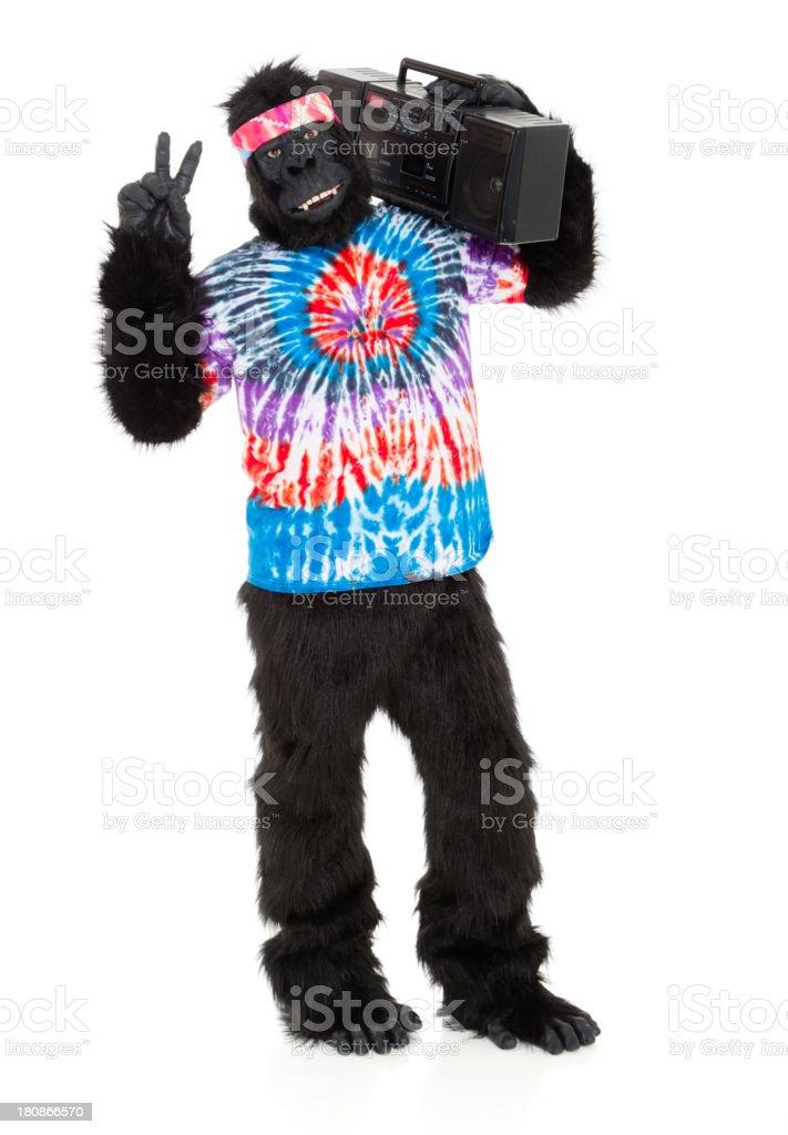 Gorilla Hippie royalty-free stock photo