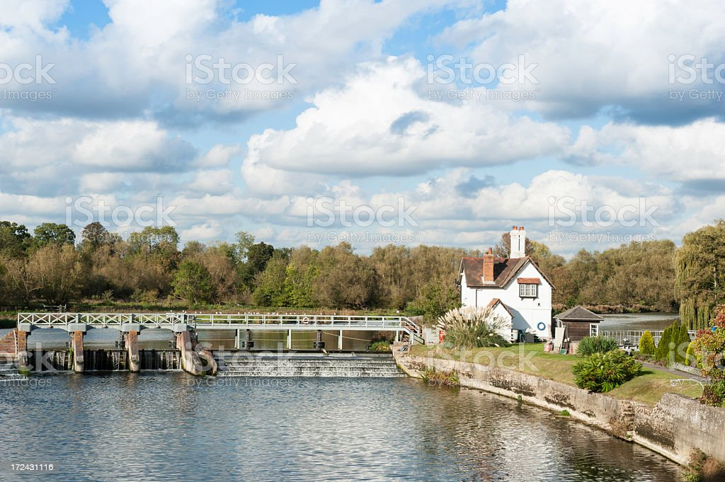 Goring lock and weir royalty-free stock photo