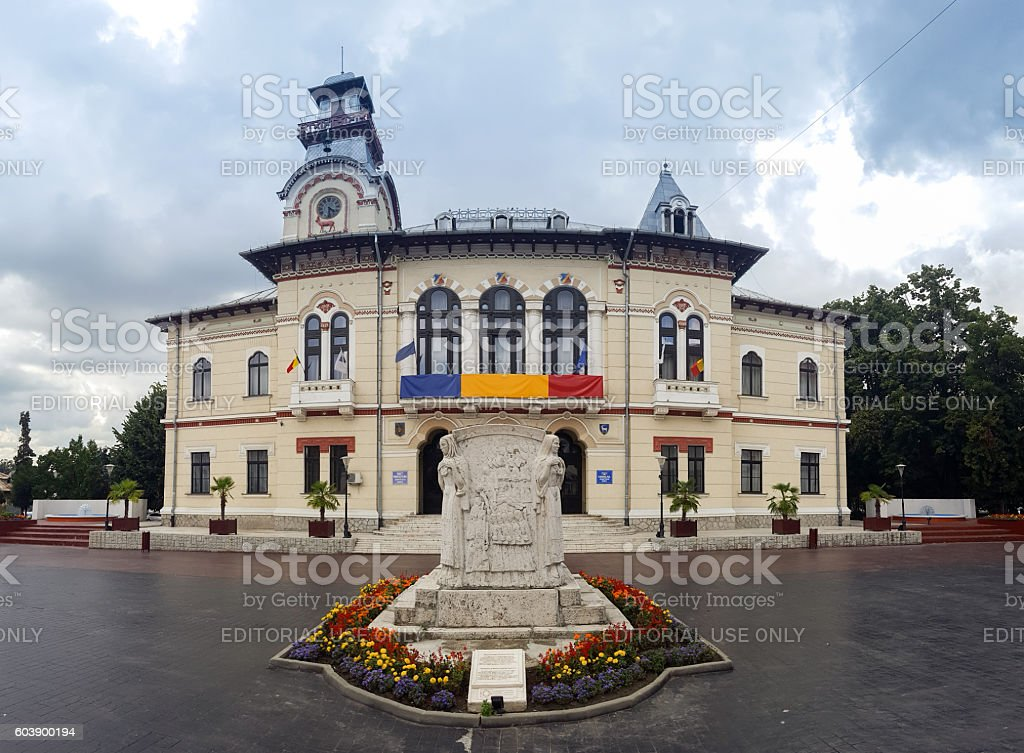 Gorj county administrative palace stock photo