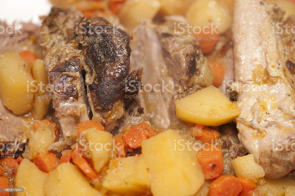 Gormet Pork Dinner royalty-free stock photo