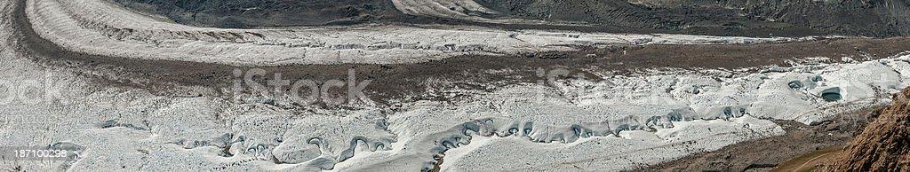 Gornergrat glacier panorama - II royalty-free stock photo