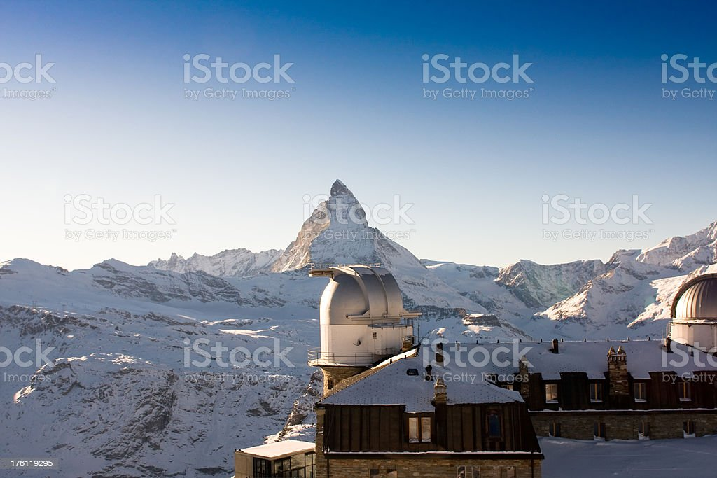 gornergrat observatory royalty-free stock photo