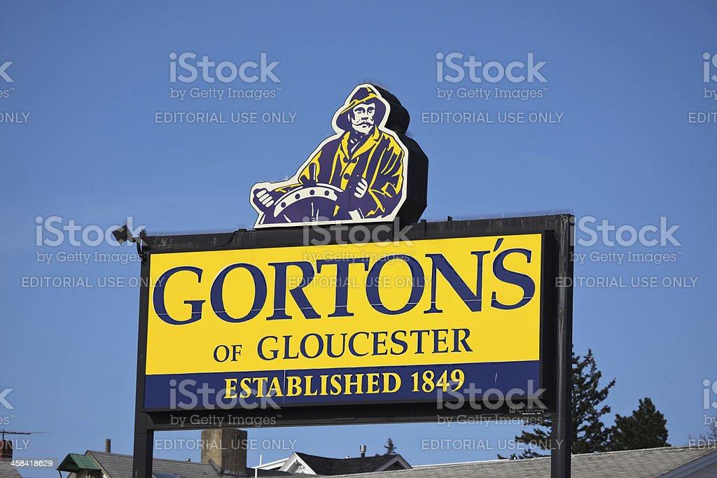 Gorton's of Gloucester billboard stock photo