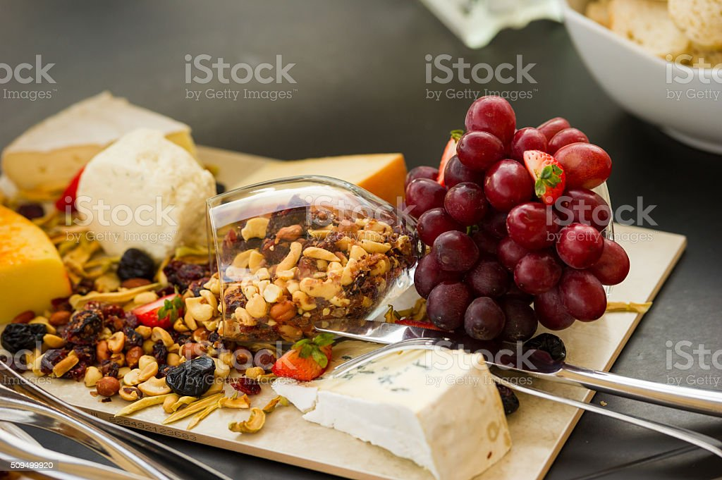 Gorumet Cheese Board stock photo