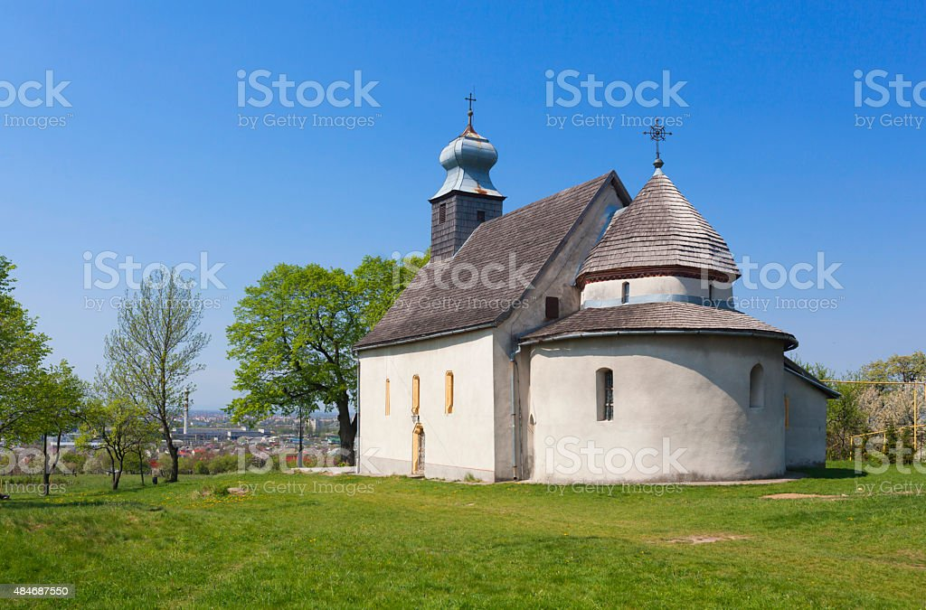 Goryanskaya rotunda in Uzhgorod, Ukraine stock photo