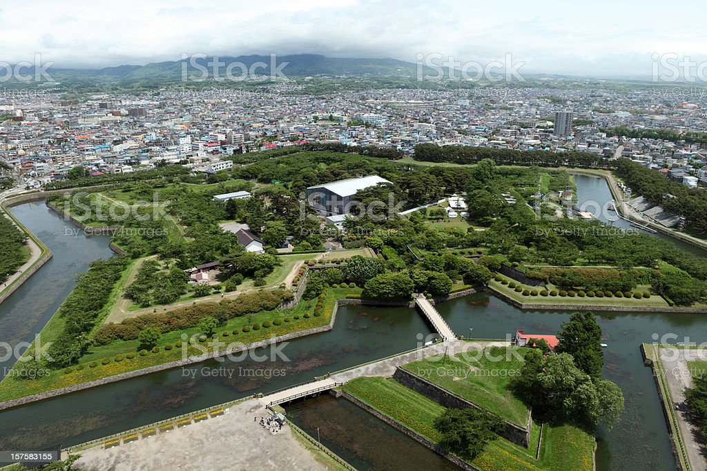 Goryokaku Star Fort in Hakodate stock photo