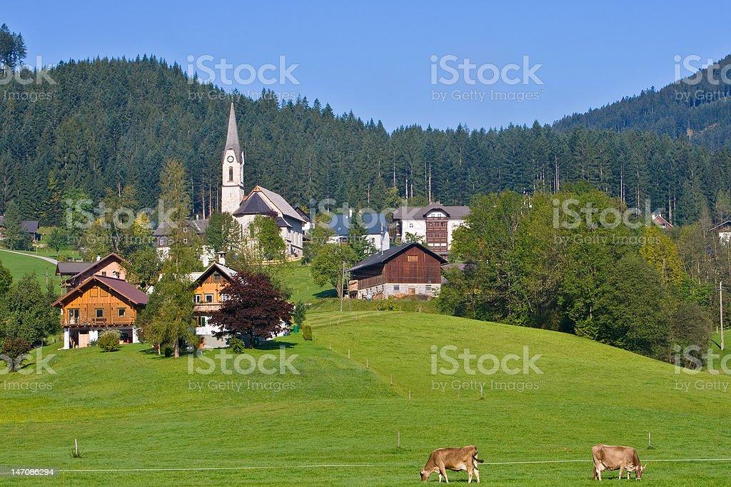 Gosau, Austria royalty-free stock photo