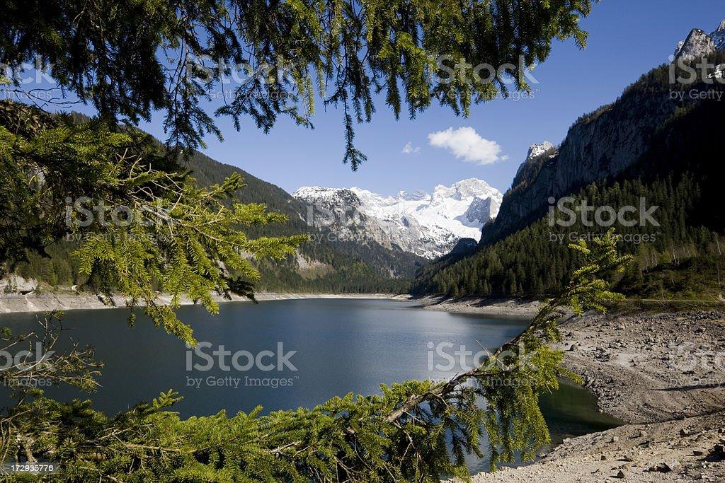 Gosau Lake stock photo