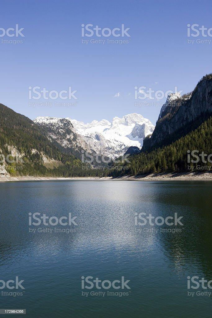 Gosau Lake royalty-free stock photo