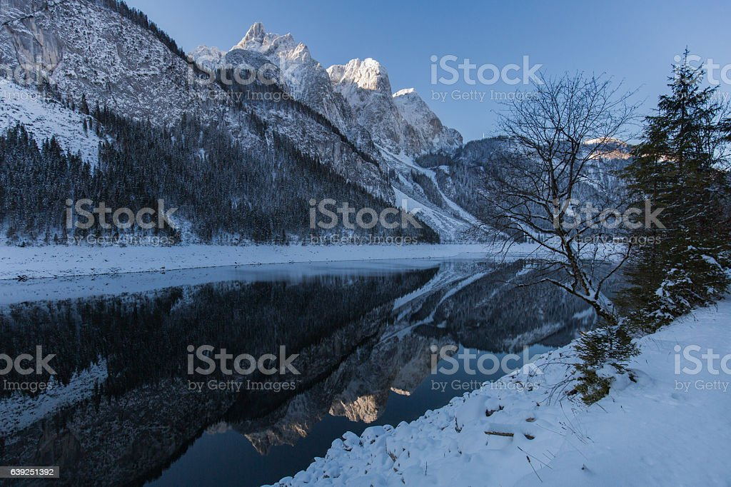 Gosausee in the Winter stock photo
