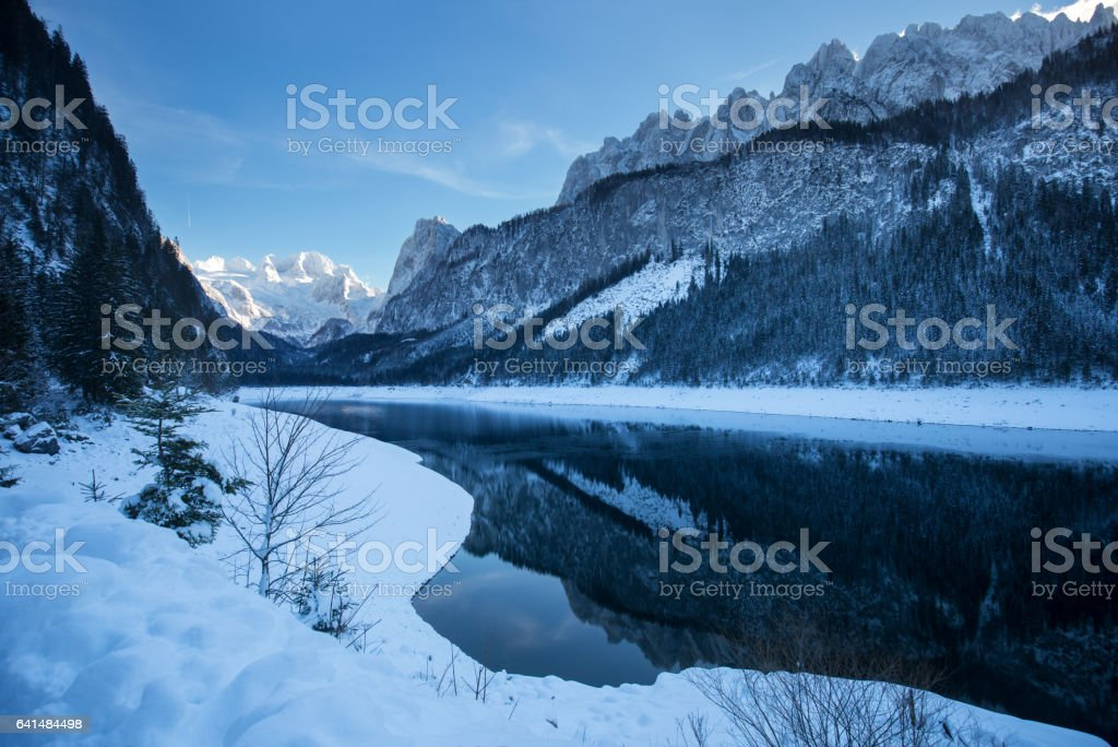 Gosausee in Winter stock photo
