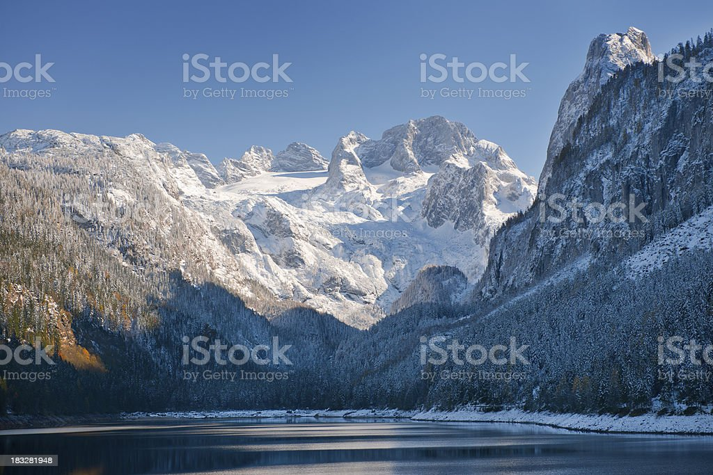 Gosausee with Glacier Dachstein in back - Nature Reserve Austria royalty-free stock photo