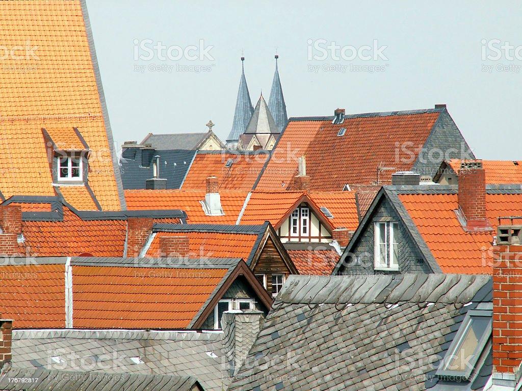 Goslar Altstadt (historic city center) stock photo