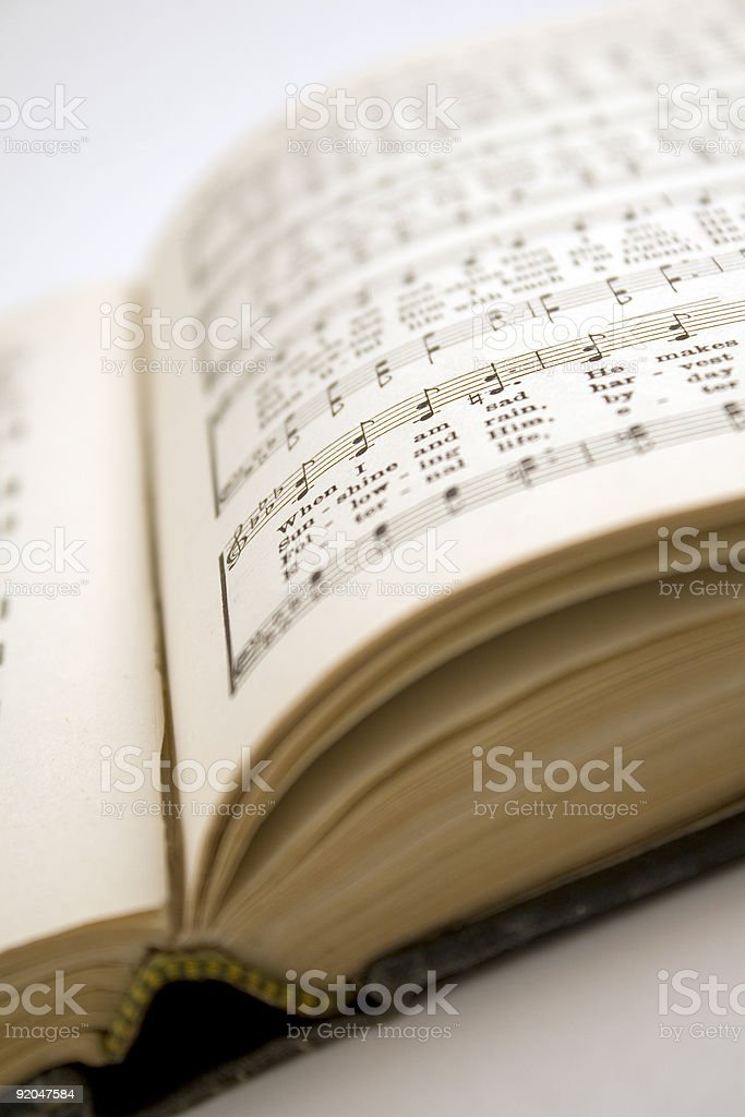 Gospel Hymnal stock photo