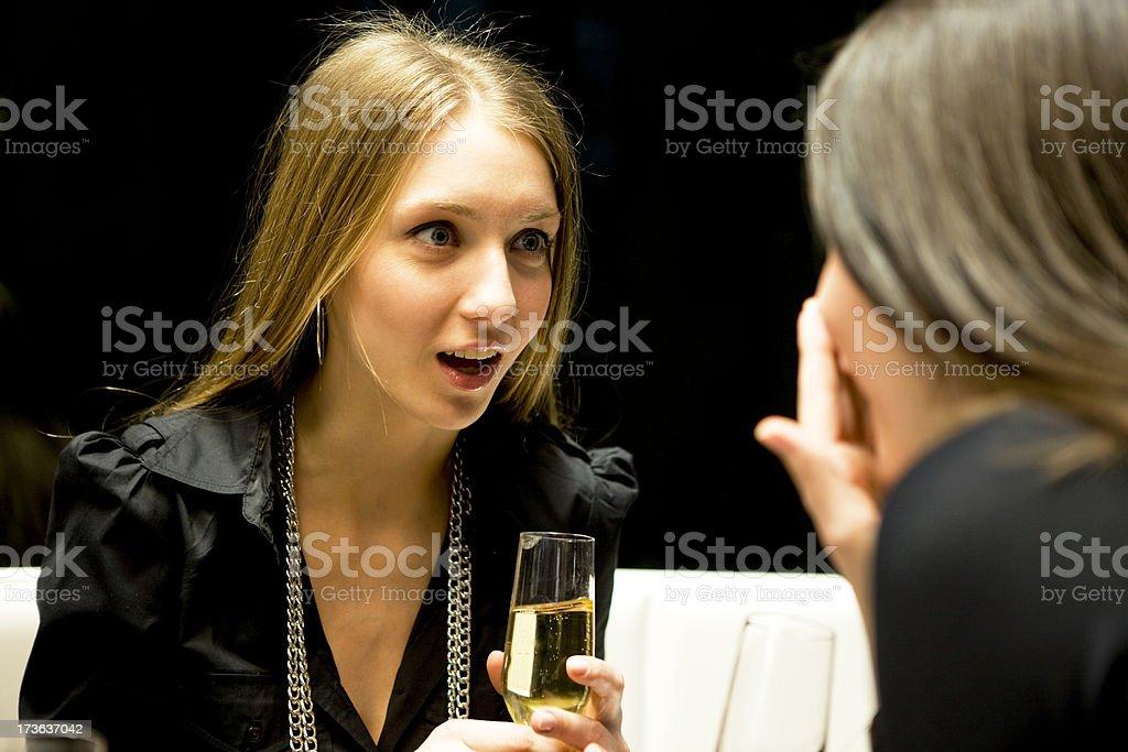 Gossip at a Bar royalty-free stock photo