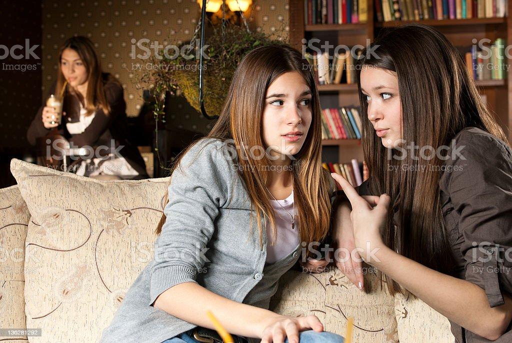 Gossip girls royalty-free stock photo