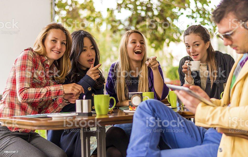 Gossip girls stock photo