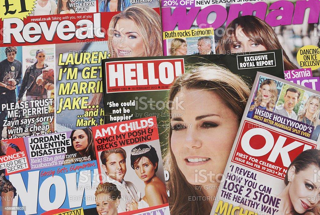 Gossip Magazines stock photo