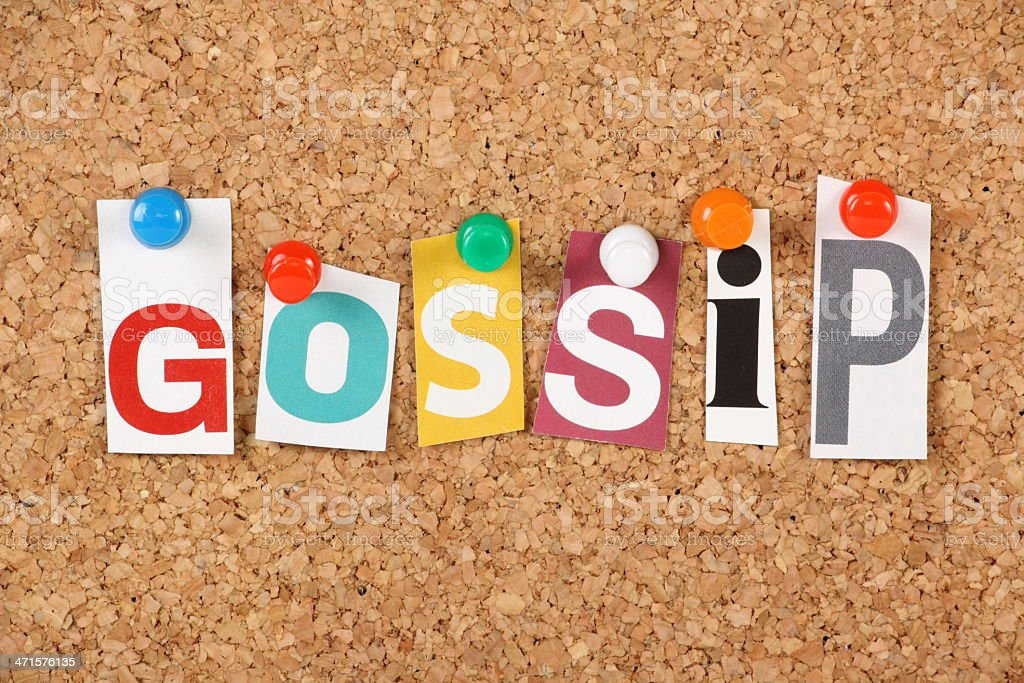 Gossip royalty-free stock photo