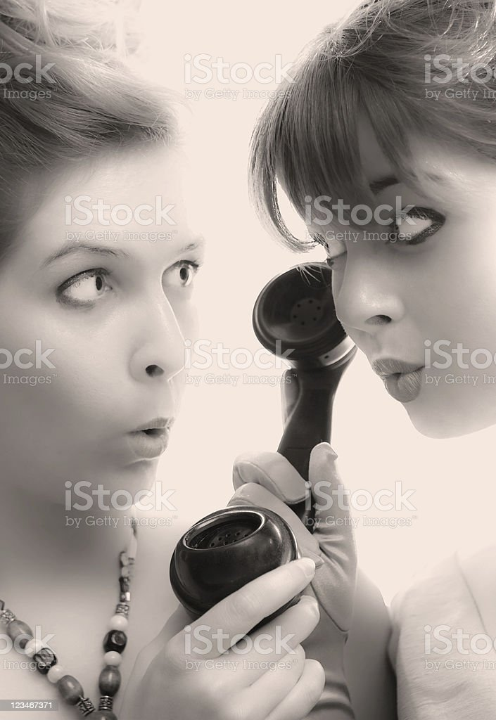 Gossip Queens stock photo