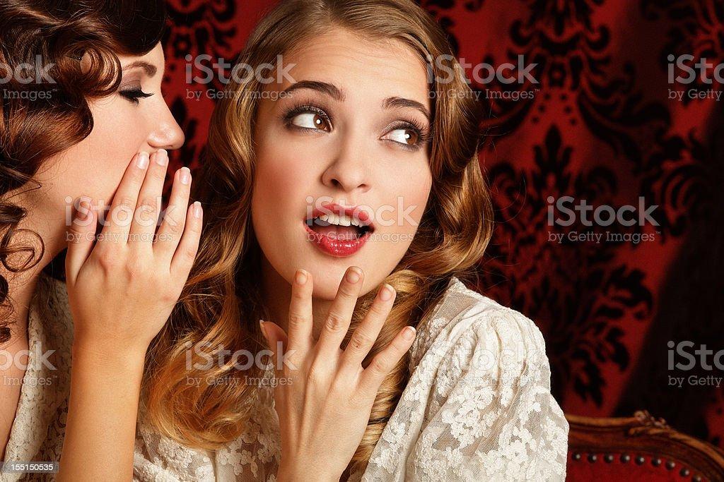 gossips stock photo