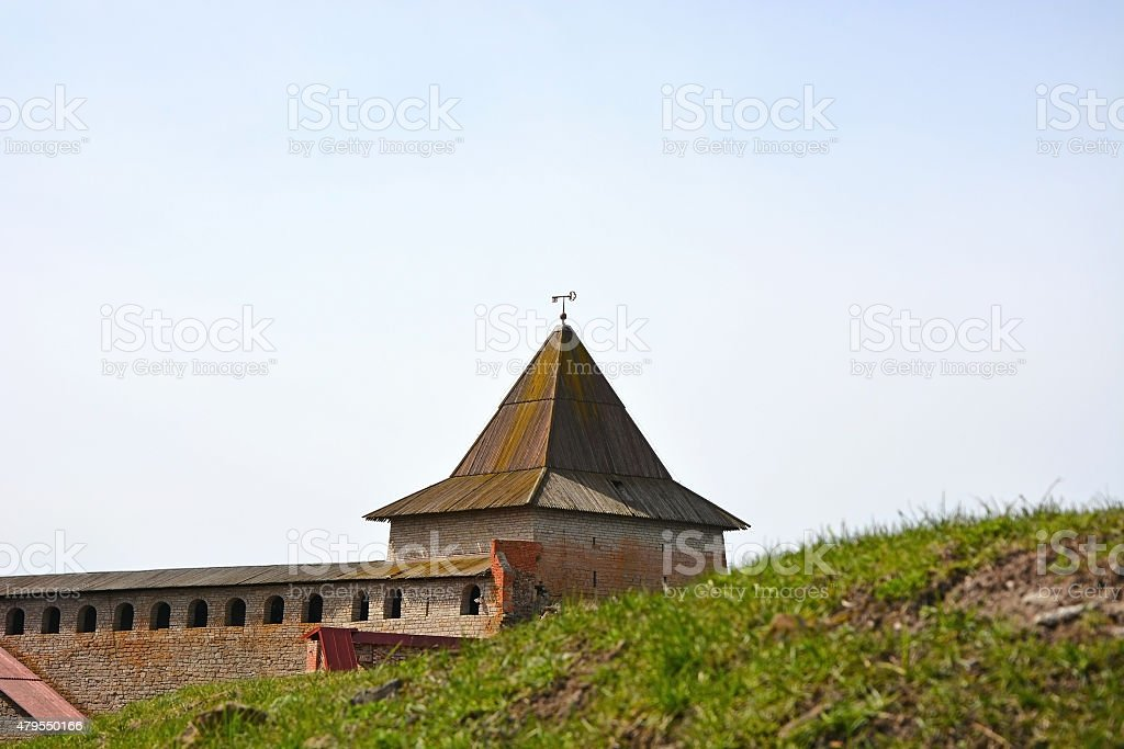 Gosudareva tower of the fortress at Shlisselburg city stock photo